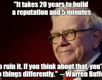 warren buffett, reputation management, business