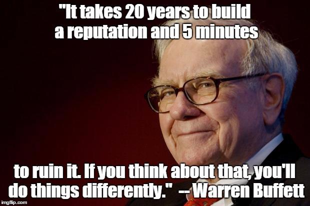 warren buffett, reputation management, business